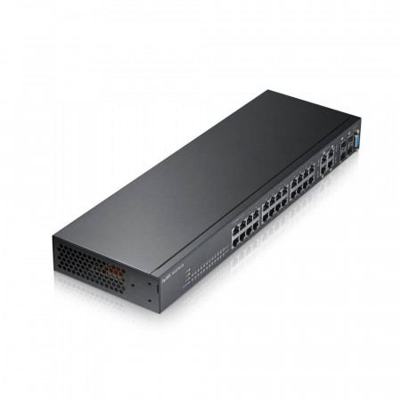 GS221024 - Switch Administrable L2 24 ports Gbps RJ45 - 4 ports Gbps combo (RJ45/SFP) - rackable - fanless