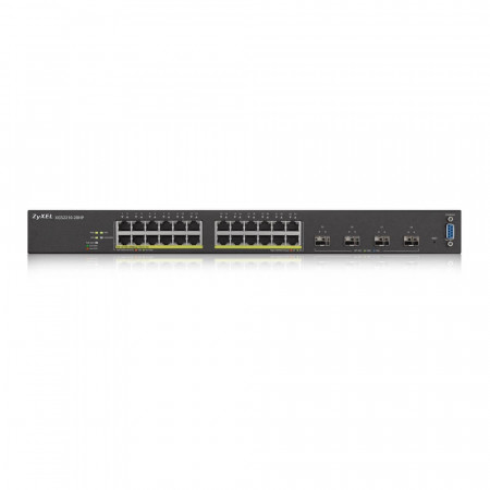 XGS2210-28HP - Switch Administrable L2 24 ports Gbps RJ45 PoE - 4 ports 10 Gbps SFP - budget PoE 375 W - rackable