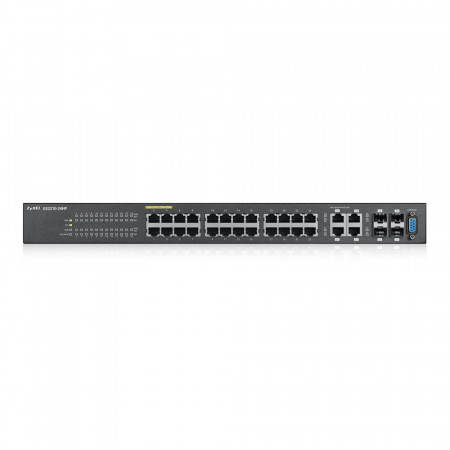 GS2210-24HP - Switch Administrable L2 24 ports Gbps RJ45 PoE+ - 4 ports Gbps combo (RJ45/SFP) - budget PoE 375 W - rackable