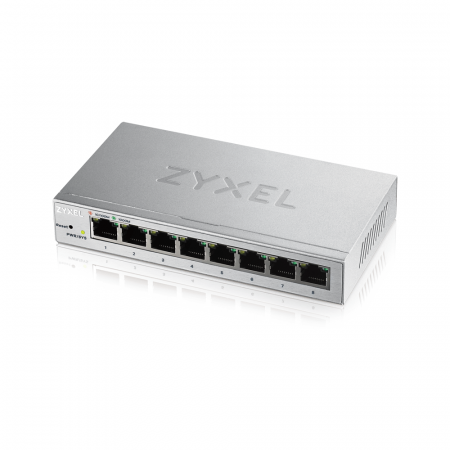 GS1200-8 - Switch Smart Administrable 8 ports Gbps RJ45 - non rackable - fanless